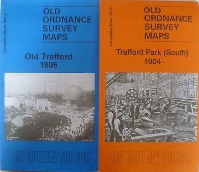 Old Ordnance Survey Two Maps Old Trafford and Trafford Park South 1904/5 Lancs
