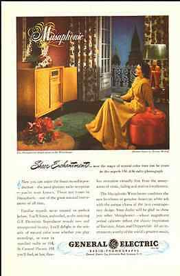 1947 vintage ad for GE Radio-Phonographs -186