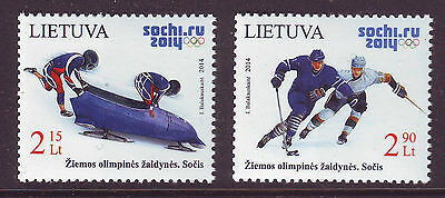 Lithuania 2014. Winter Olympic Games. 2 v. MNH.