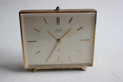 ORIS 7 Jewels 8 Day Mantle Alarm Clock - SWISS MADE - Working