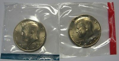 1979-P and 1979-D Gem BU Kennedy Half Dollars in Original Mint Cello Packs