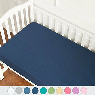 TILLYOU Microfiber Silky Soft Crib Sheets Boy, Fitted Toddler Mattress Sheets,