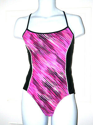 Catalina  Pink & Black  One Piece Ladies Swim Suit Available in Large & 2XL