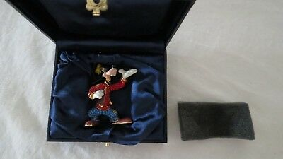 Goofy Figure Disney Park Jeweled Arribas Swarvoski Boxed As New  More Listed