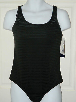 """Catalina Black One Piece Swim Suit """"Burn Out"""" New wTags Sz Large or Extra Large"""