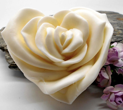 Large 3D Rose Heart Silicone Mould Chocolate Soap Clay Cake Silicon Mold