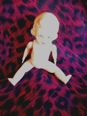 "Vintage 4"" Celluloid DOLL - from Aunty Pearl's stash! Made in Hong Kong."