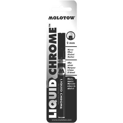 Molotow Liquid Chrome 2MM Mirror effect Pump marker in blister card 703102