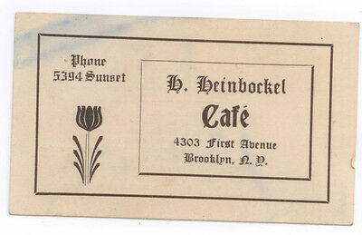 Vintage Brooklyn, New York-B Beinbrrkel Business Card Business Card