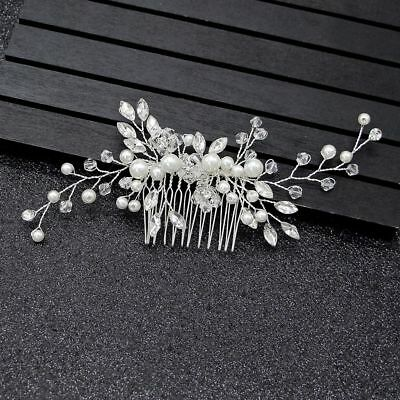Fashion Handmade Crystal Pearl Hair Comb Hairclip Hairpin Wedding Hair Jewelry