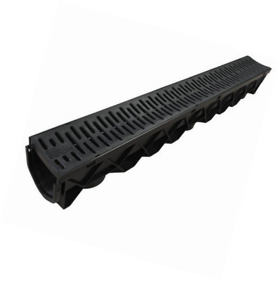 CrazyGadget 9 X Drain Channel Deep Drainage Plastic PVC Heavy Duty for Water Rai
