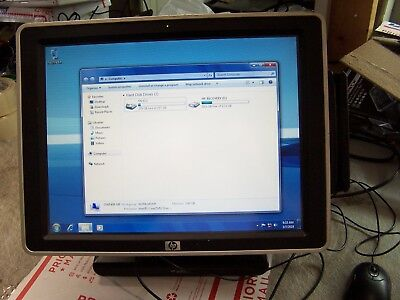"""HP AP5000  POS 15"""" Touchscreen BACK LCD Computer 2.8GHZ 3GB  s4  with AC ADAPTER"""