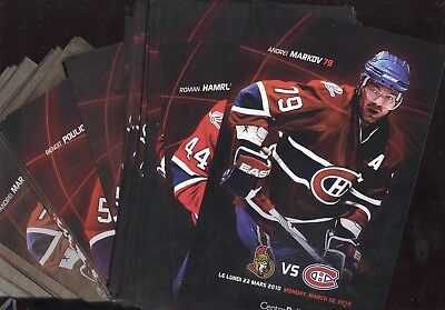 2008-09 2009-10 Montreal Canadiens Lineup Card Centennial Nhl Hockey See List