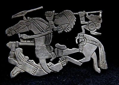 Viking Silver Appilique Depicting Norse warrior with Horse  900-1100 AD