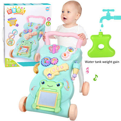 Baby Activity Push Walker Musical Piano Play Stroller SitPlay Early Learning Toy