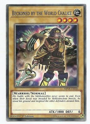 Beckoned by the World Chalice MP18-EN046 Common Yu-Gi-Oh Card 1st Edition New