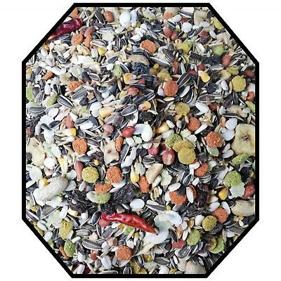 Tropical Parrot Food mix- Seed, Fruit, Chilli- Macaw, African Grey Bird