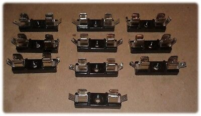 """Holder, Fuse, 3AG Fuses, Single Pole, ½"""" Width, Tin Plated Spring Brass (Lot/10)"""