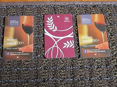 Hotel Key Card Sheraton LOT of 3 Starwood Preferred Guest Amex Collecitble