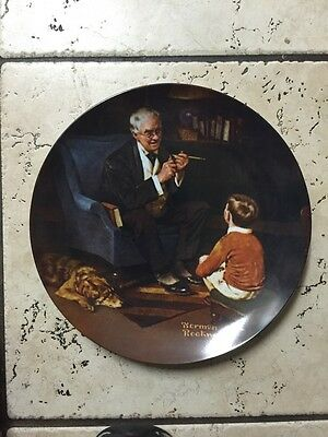 Vintage Collector Wall Plate The Tycoon by NORMAN ROCKWELL