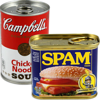 NEW (Set) Spam And Campbell's Soup Can Secret Safes - Hide In Stuff Plain Sight
