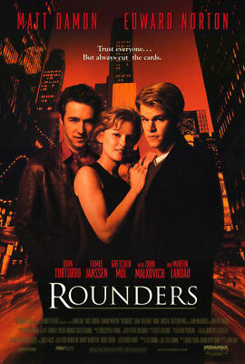 Rounders (1998) original movie poster - single-sided - rolled