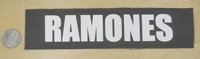"Ramones Logo  Iron-On / Sew-On Embroidered Patch  8 "" X 2 """