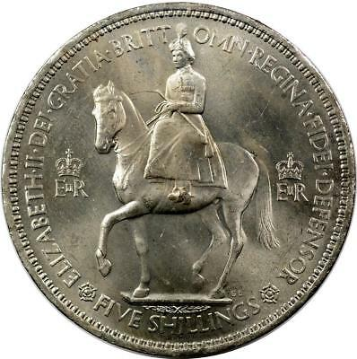 Great Britain - Crown - 1953 - Aunc - Rim Abrasion