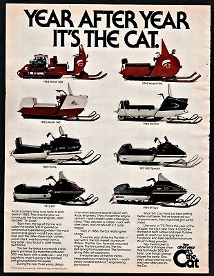 1975 ARCTIC CAT Tiger Snowmobile AD images of 1962 1963 1965 1966 1969 1971 1972