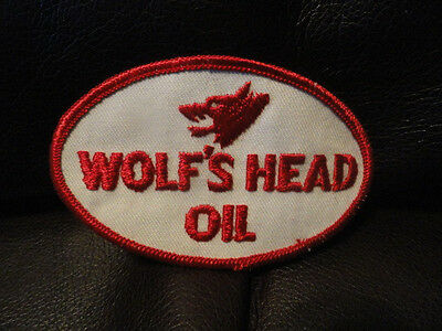 Wolf's Head Oil Patch - Vintage - New - Original - Wolf - 3 5/8 x 2 1/4 inches