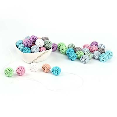 10Pcs Natural Wooden Crochet Beads Chewable Tooth Nursing Necklace Teething I