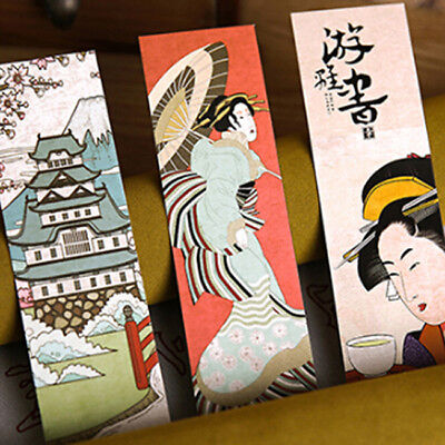 1Box Japanese Style Bookmark Book Mark Page Magazine Note Memo School BS