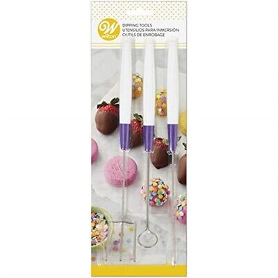 cm Dipping Tools - Wilton Set 3 Candy Melts 19041017 Stainless Steel Dipping
