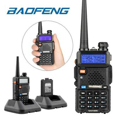 Baofeng UV-5R 5W Dual Band Two Way Radio VHF UHF Backlit LCD Walkie Talkie