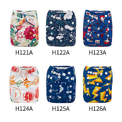 ALVA Baby Cloth Diapers One Size Reusable Pocket Nappy+ 1 3-Layers Bamboo Insert