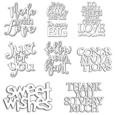 Various Word Metal Cutting Dies Stencil Scrapbook Album Paper Card DIY Embossing