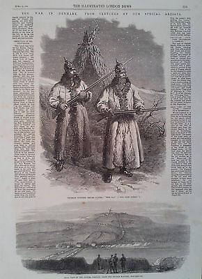1864 Print Illustrations Of The War In Denmark - Adverts