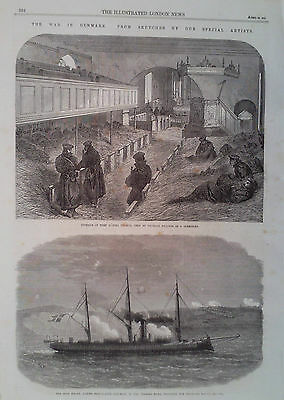 1864 Print Illustrations Of The War In Denmark