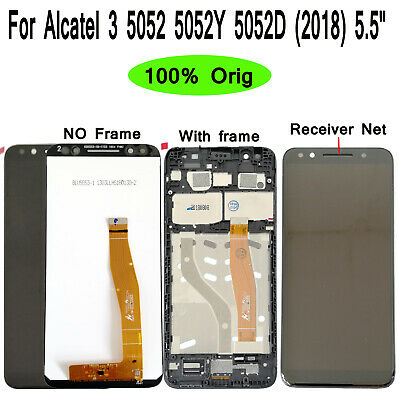 Original For Alcatel 3 2018 5052 5052Y 5052D LCD Display Touch Screen Digitizer