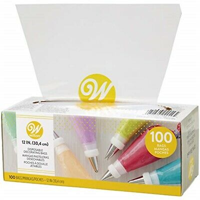Wilton 12-inch Disposable Cake Decorating And Pastry Bags, 100-count - Bags 12