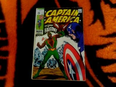 Captain America   #117  Sep/1969 Gd+  Red Skull / Cosmic Cube 1St Falcon