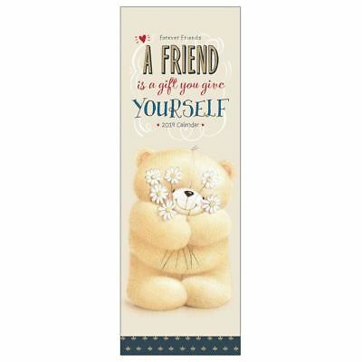 Forever Friends Official 2019 Slim Wall Calendar New & Sealed