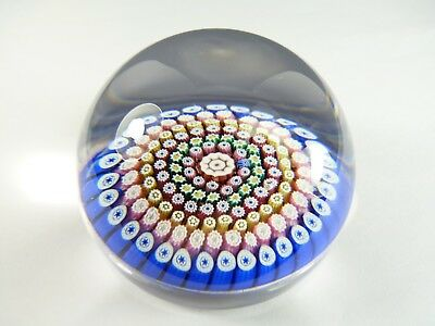WHITEFRIARS Paperweight - Concentric Ring Paperweight - 1978