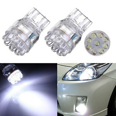 2pcs Car T20 7443 7440 9LED Turn Signal Brake Tail Lamp Light Bulb White