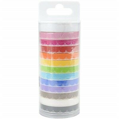 Doodlebug Doodlebug Monochromatic Washi Tape 8mmx12yds 12/pkg-scallop, Other, -
