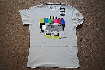 Joystick Junkies Television Invasion White T Shirt Bnwt Official Video Game