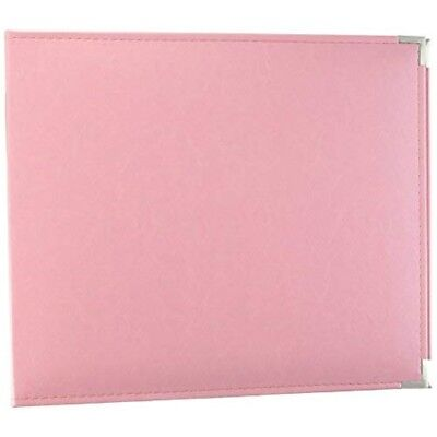 Leather 3ring Albm12 Pretty Pnk - Classic Album Pink Dring x Inch Memory Keepers