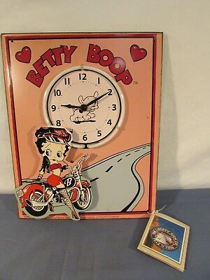 Liberty Sign Co Betty Boop Neon Lighted Clock