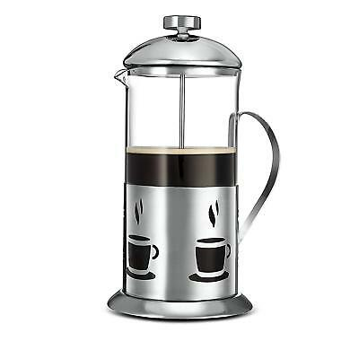 Kitchsmart Stainless Steel French Press Coffee Maker, 34-Ounce, Mesh