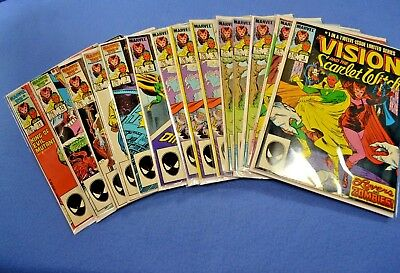 Lot of 14 Limited Series Vision and Scarlet Witch of the Avengers Marvel Comics
